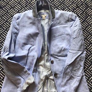 J. Crew Factory Jackets & Coats - Linen Light Blue Blazer